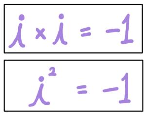 i^2 = -1