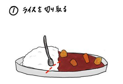 ライス左の食べ方①