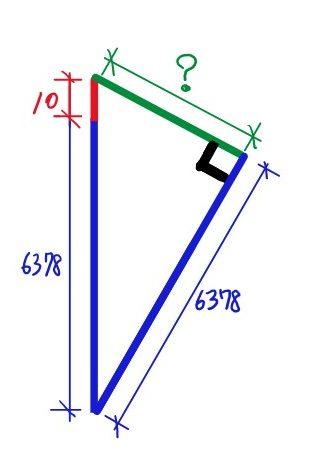 直角三角形(長さ当てはめ後)
